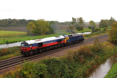 59003+47815 on the 0Z59 Immingham to Eastleigh at Crowle on the 13th October 2014 1