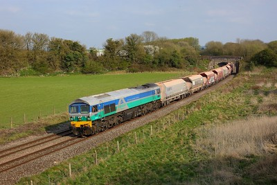 59001 working 7C64 Acton TC to Merehead Quarry at Wolfhall on 21 April 2021  Class59, BandH, Freightliner