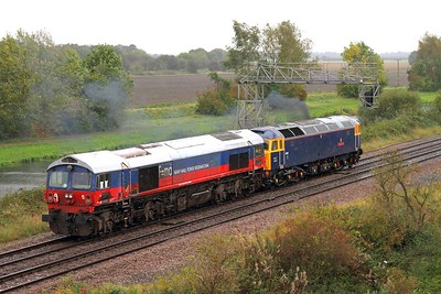 59003+47815 on the 0Z59 Immingham to Eastleigh at Crowle on the 13th October 2014 2
