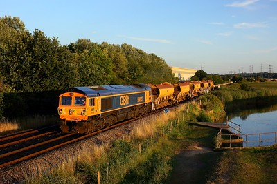 59003 working 6V31 Eastleigh East yard to Westbury yard at Test Lane on 17 July 2020  Class59, GBRf, TestValley