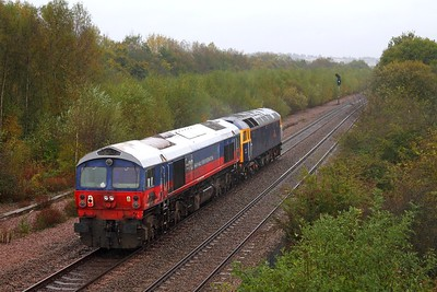 47815+59003 on the 0Z59 Immingham to Eastleigh at Beighton junction on the 13th October 2014