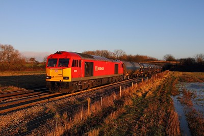 60010 on the 6M00 Humber to Kingsbury at Stenson bubble on the 19th December 2014