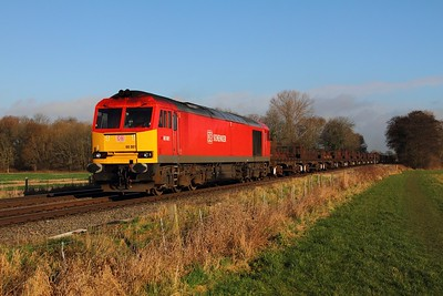 60001 on 6V92 Corby to Margam at East Goscote on the 22nd January 2014