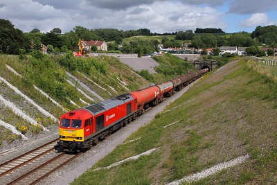 60020 on the 6B33 Theale to Robeston at Chipping Sodbury on the 28th July 2015