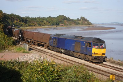60011 powering 6V07 Round Oak to Margam at Purton on 1 October 2009  Class60, LydneyLine, EWS