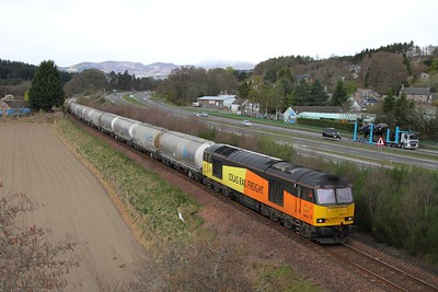 60002 on the 6B31 Inverness to Oxwellmains at Balinluig on the 15th April 2017