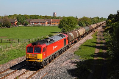 60024 on the 6M57 Lindsey to Kingsbury at Branston on the 3rd May 2014