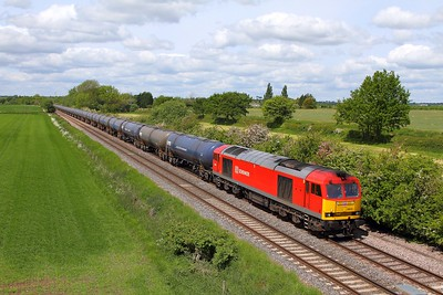 60010 on the 6E54 Kingsbury to Humber at Barrow upon Trent on the 30th May 2015
