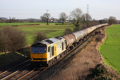 60015 Elford 6E41 Westerleigh to Lindsey on the 25th February 2011