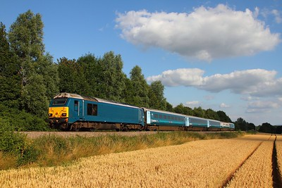 67003 on the 1W96 Cardiff Central to Holyhead at Llanellen, Abergavenny on the 23rd July 2014