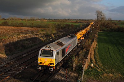 67026 tnt 67015 on the 6X11 1024 Acton yard to Toton North yard 145 minutes late on the 17th November 2014