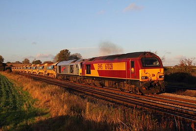 67028+67026 6M23 Doncaster to Mountsorrel at Thurmaston on the 28th October 2013