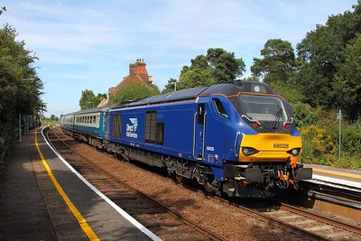 68028 tnt 68005 on the 2J74 1205 Norwich to Lowestoft at Somerleyton on the 28th August 2017 1