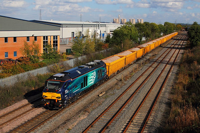 68003 on the 6U77 Mountsorrel to Crewe at Castle Donnington on the 10th October 2014 1