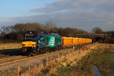 68005 on the 6U77 Mountsorrel to Crewe Basford Hall at Stenson bubble on the 3rd February 2015 hires