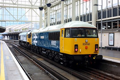 69002 with 66789 at London Waterloo having worked 0Z69 Eastleigh yard to London Waterloo on 10 July 2021  GBRF, Class69, WaterlooStation, LightEngine, WaterlooReadingLine