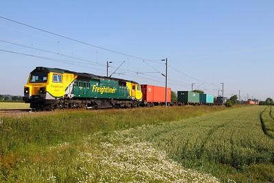 70007 Dunston hauling the 4O29 Crewe Basford Hall to Southampton on the 2nd July 2011