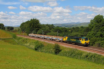 70003 on the 6Z42 Crewe Basford Hall to Carlisle at Beck Houses on the 9th July 2014