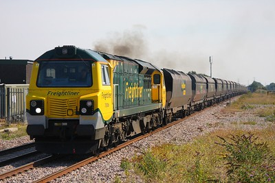 70006 working the 6M04 Portbury to Rugeley coal train at Severn Tunnel junction on the 2nd September 2010