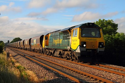 70010 powering the mighty 4V57 Rugeley to Stoke Gifford coal train at Ashchurch on the 26th June 2012