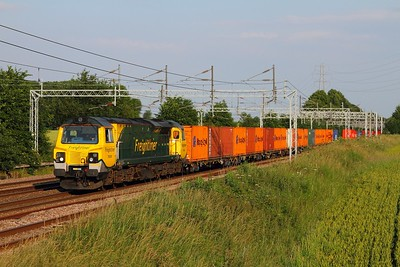 70008 on the 4M56 London Gateway to Crewe Basford Hall at Brinklow on the 23rd June 2014