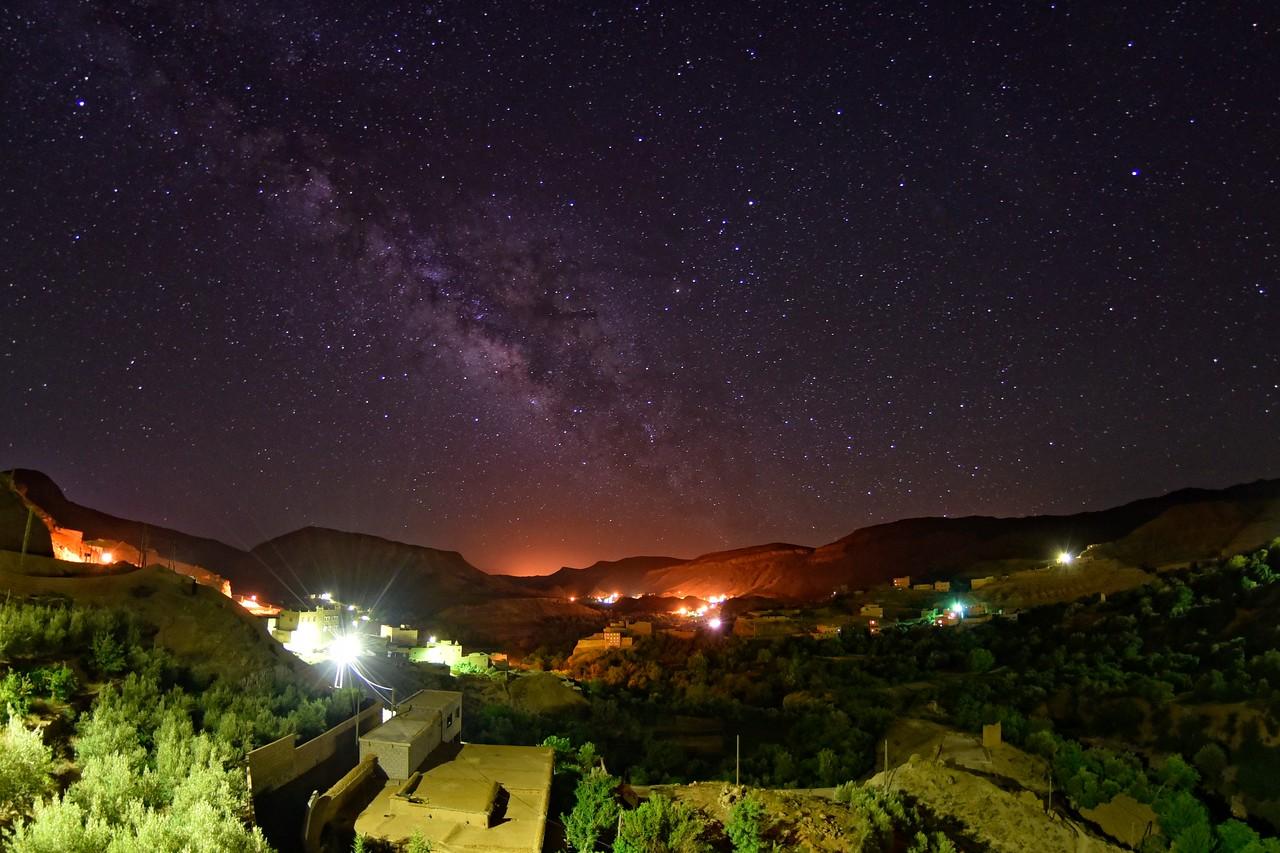 Milchstraße über dem Dades-Tal I Marokko