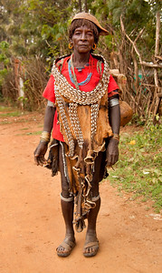 Lady in the southern Omo Valley, Ethiopia.