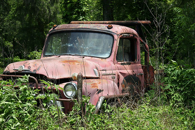 """On our way back from a Scout camping trip, I spotted this old abandoned truck.  I slowed down and stopped abruptly.  With a startled look, my wife asked what I was doing.  I looked at her with """"puppy dog eyes"""" and a little spirit and told her that I """"needed"""" to take this picture."""