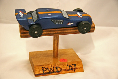 """Tiger Scout Pine Derby Racer.  Not super fast, but won an award for """"most realistic car."""""""