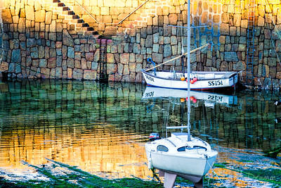 Reflections, Mousehole, Cornwall, England