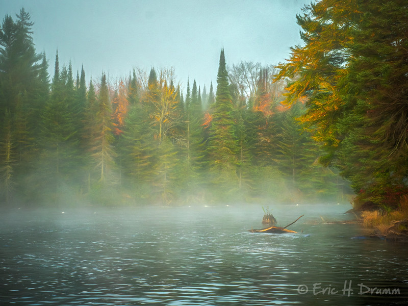 Mist on the Oxtongue River, Muskoka, Ontario