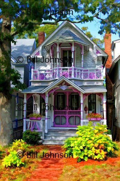 Adorable Gingerbread House, Oak Bluffs Campgrounds, Martha's Vineyard. Selected as the Photo of the Day at DigitalimageCafe on 4/10/2010.