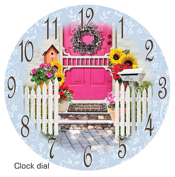 Garden gate clock