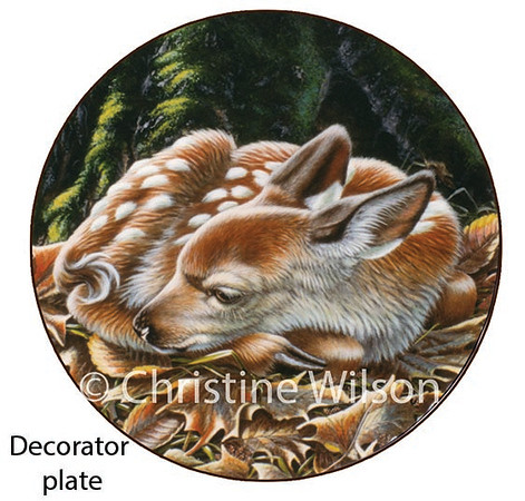 Fawn collector plate