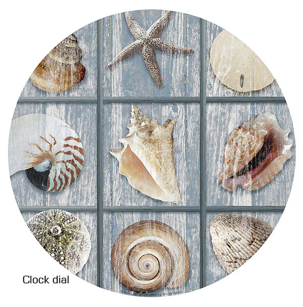 Shell clock face