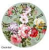 Victorian Flowers clock