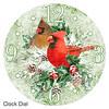Cardinals Christmas clock