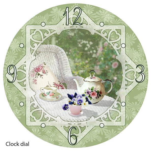 Garden party clock