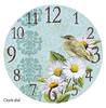 Warbler clock face