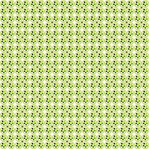 Simple spring toned pattern made of circles, stars and tones of green