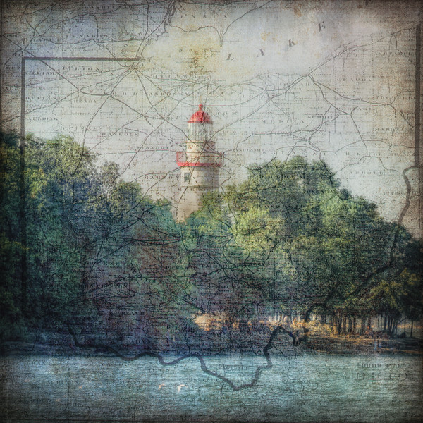 Marblehead Lighthouse-MapSeries - Ohio