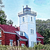 The 40 Mile Point Lighthouse on Lake Huron.
