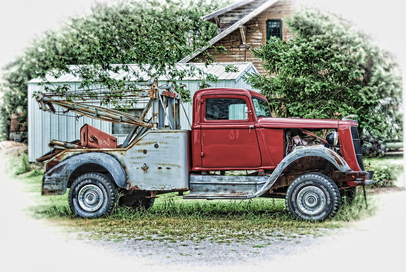 Old Ford Tow Truck
