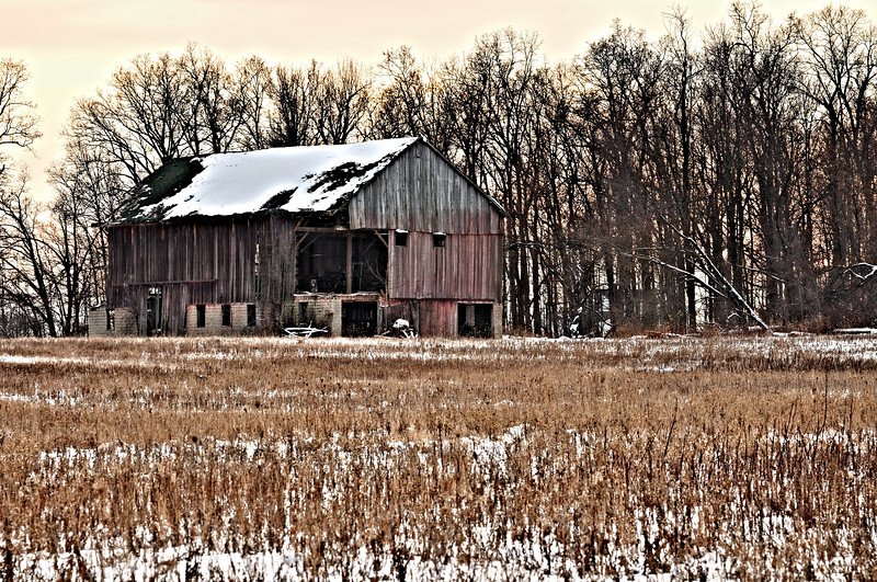 Will I make it to Spring?  Barn built in 1852 has seen better days.