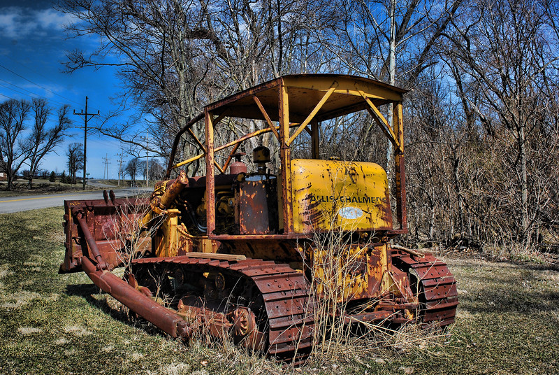 My Work is Done .....while traveling down a back country road ...I came upon this old bulldozer just sitting on the side of the road ...just had to shoot it !!