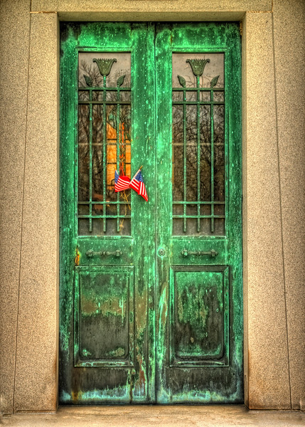 Grungey Green Door