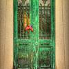 Grungey Green Door