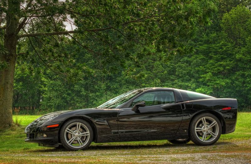 Black 2009 Corvette