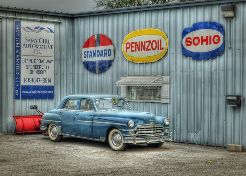 The Old Blue Chrysler