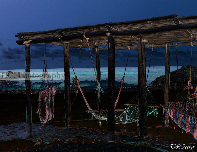 Beach Hammocks in Cozumel, MX